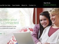Website redesign for telecoms company