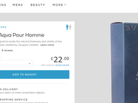 Fragrance product page