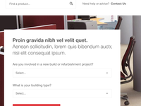 Product finder website