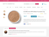 Make-up shop product page