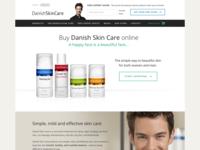 Skincare website redesign