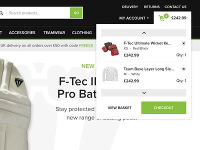 Scrolling mini basket web website ui flat modern responsive shop ecommerce basket checkout cart