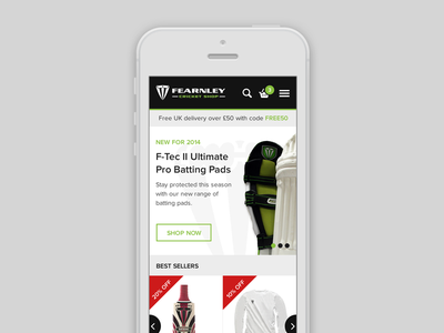 Shop mobile view web website ui flat modern responsive shop ecommerce mobile