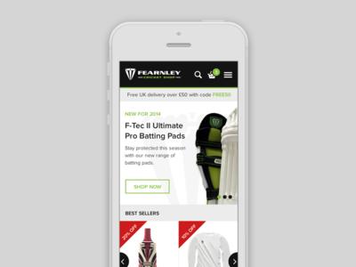 Shop mobile view web website ui flat modern responsive shop ecommerce mobile
