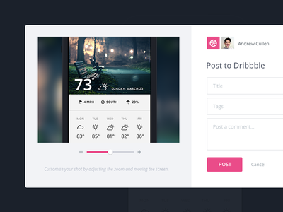 Dribbble Integration invision dribbble integration web app ui ux app prototype