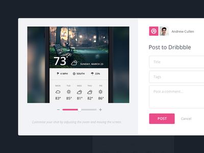 Dribbble Integration invision dribbble integration web app ui ux app prototype