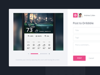 Dribbble Integration