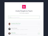 Invite to Team