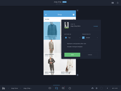 InVision v5 Build Mode prototype app mobile gestures form ux ui dark material flat invision