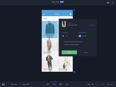 InVision v5 Build Mode prototype app mobile gestures form ux ui dark material flat invision