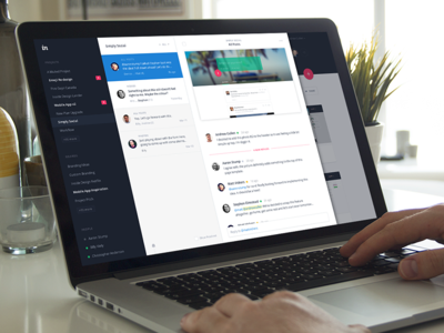 Coming soon: Inbox - effortless design feedback chat sidebar material communication comments inbox notification app invision
