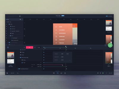 Motion - advanced animations and interactions timeline prototype interaction transition animate animation motion app invision