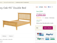 Furniture product page