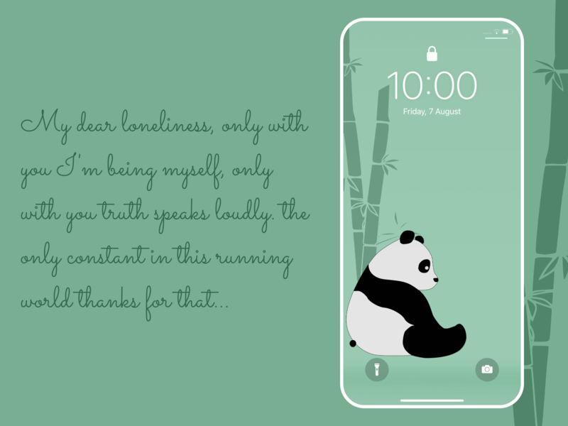 Dear loneliness figmadesign android minimal panda bear sad feel alone loneliness panda wallpaper design minimalist homescreen iphone free figma illustration free wallpaper lockscreen wallpaper