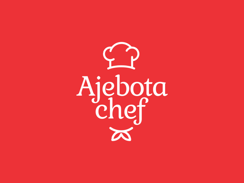 Ajebota Chef chef food circle brand brand identity logo branding design