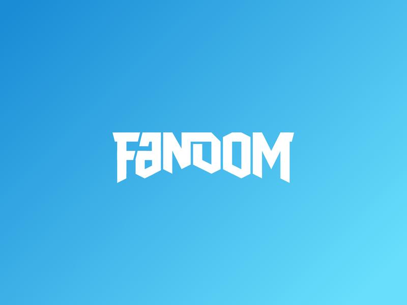 Fandom gradient social media social brand typography brand identity branding logo design