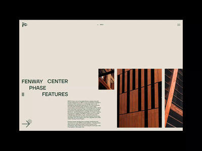 Fenway Center UI Design science minimal fenway boston desktop website architecture real estate building slider design web design ui ui design animation motion graphics motion branding