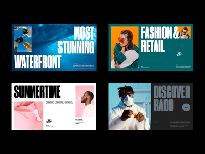 The RaDD Editorial california layout san diego the radd real estate science presentation slides fashion editorial typography color ui design ui design logotype branding