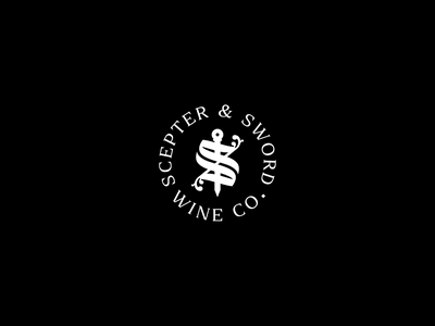Scepter & Sword Logotype Animation empowerment female medieval queen wine badge sword scepter logo animation ui design motion graphics motion animation logo logotype branding