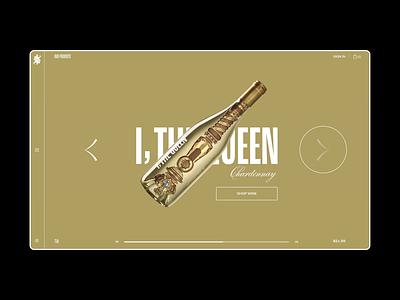 Scepter & Sword Product Page + Menu desktop queen empowerment female medieval scepter menu product packaging wine web design web design ui ui design motion graphics motion animation branding