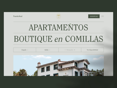 Fuente Real Home botanical garden floral boutique palm trees plants hospitality hotel apartments fuente real web design web design ui ui design motion graphics motion animation branding