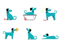Fun illustration I got to do for a dog grooming website!