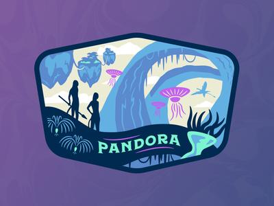 Pandora neon landscape disney patch avatar pandora