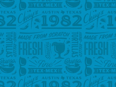 Chuy's Pattern pattern mexican food tex mex chuys