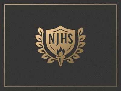 National Junior Honor Society mark torch mark laurels badge national junior honor society njhs