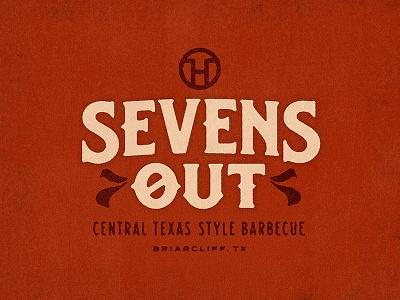 Sevens Out logo restaurant texas barbecue bbq