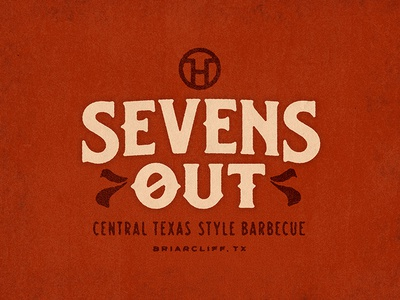 Sevens Out logo restaurant texas barbecue bbq