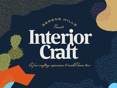 Interior Craft Event v.2 dots event typography type craft cactus abstract