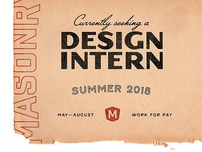 Design Intern summer design texas austin agency intern