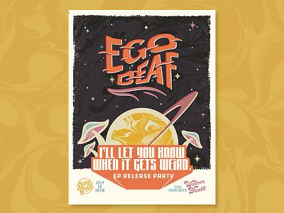 Ego Deaf poster No.2 austin weird trippy poster band ego deaf