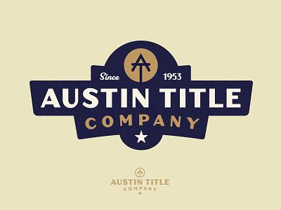Austin Title Logo - v1 badge branding monogram brand logo title austin