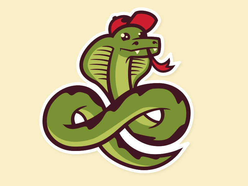 Snake Sticker just a normal red hat not a maga hat illustration snake