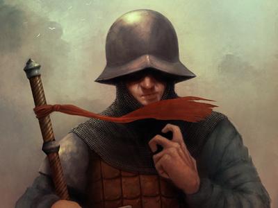 Hedge Knight fantasy art digital artist digital art medieval illustration