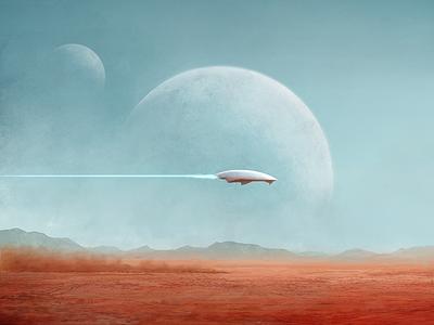 Foreign Lands desert sci-fi art sci-fi landscape illustration landscape art art digital artist illustration digital art fantasy art