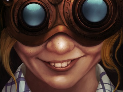 Steampunk VR concept art sci-fi art character art digital art illustration digital artist sci-fi