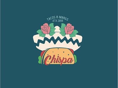 Chispa tacos mexico icono diseño logo logotipo marca vector desig diseño grafico