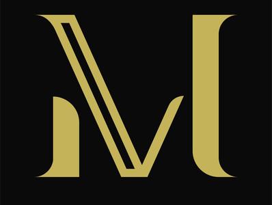 MV logo icon typography logo design logo illustrator branding vector design