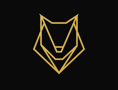 Golden Wolf modern logo minimalist logo logo design logo branding illustrator design vector