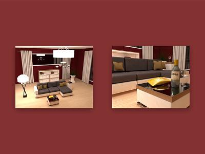 3D Lounge maxonc4d maxon3d maxon 3d modeling cinema 4d 3d