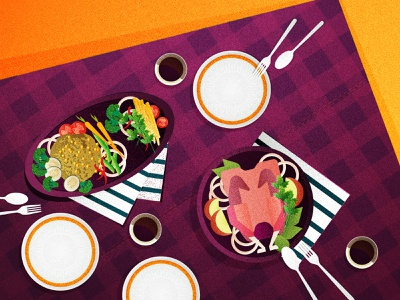 DINNER web flat app vector ui branding design illustration