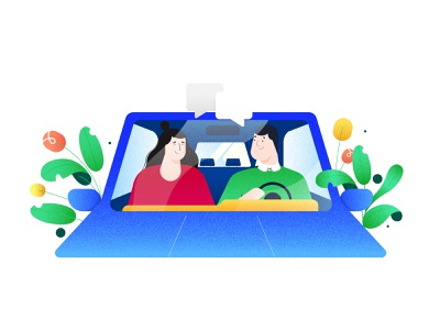 App illustration ubereats carpooling logo flat app icon vector ux uiux ui branding design illustration