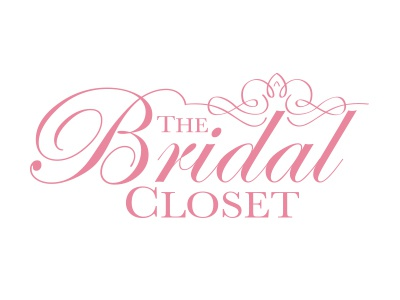 The Bridal Closet brand identity wedding logo tiara