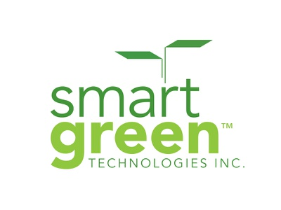 SmartGreen Technologies Inc. skyscraper logo environment green roof building technology leaf sprout