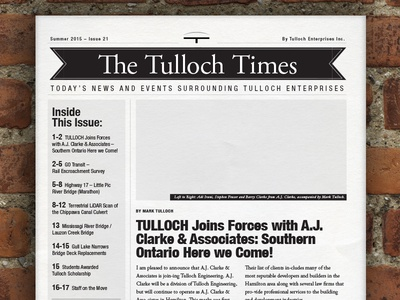 WIP: The Tulloch Times print editorial news engineering newspaper newsletter