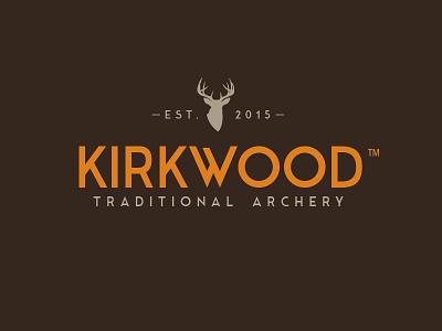 WIP: Kirkwood Traditional Archery traditional whitetail orange brown hunting archery deer logo