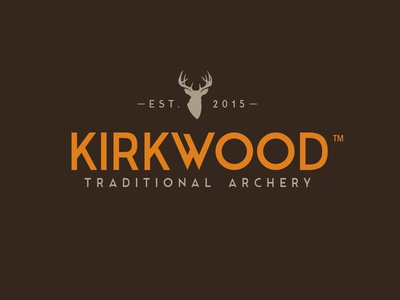 WIP: Kirkwood Traditional Archery traditional whitetail orange brown hunting archery deer logo